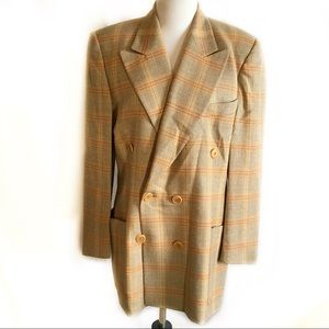 Escada by Margarehtha Ley plaid blazer